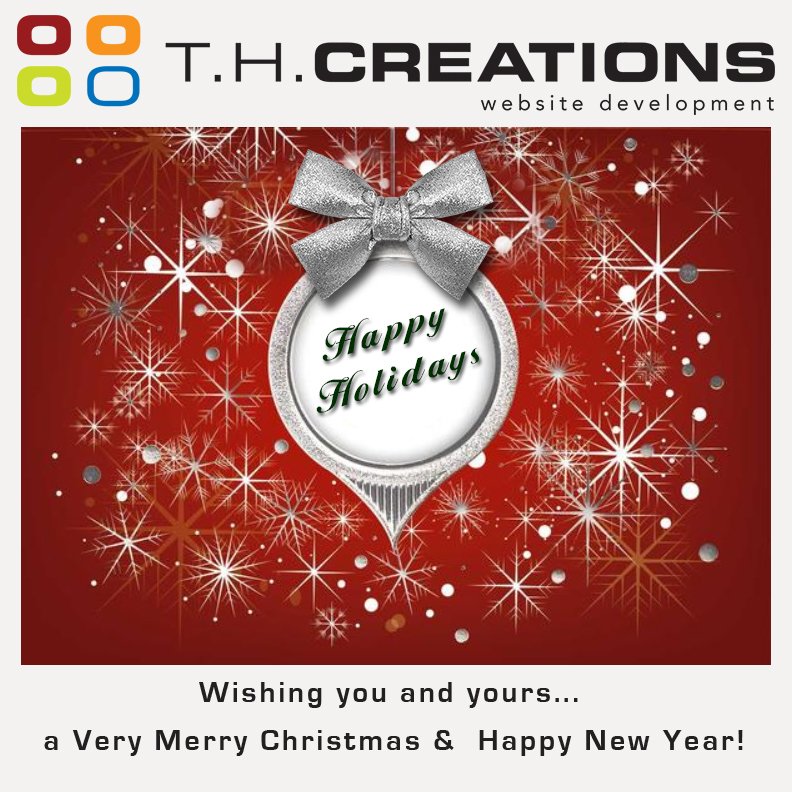 Merry Christmas and Happy New Year from Professor Web &T.H. Creations, Inc.